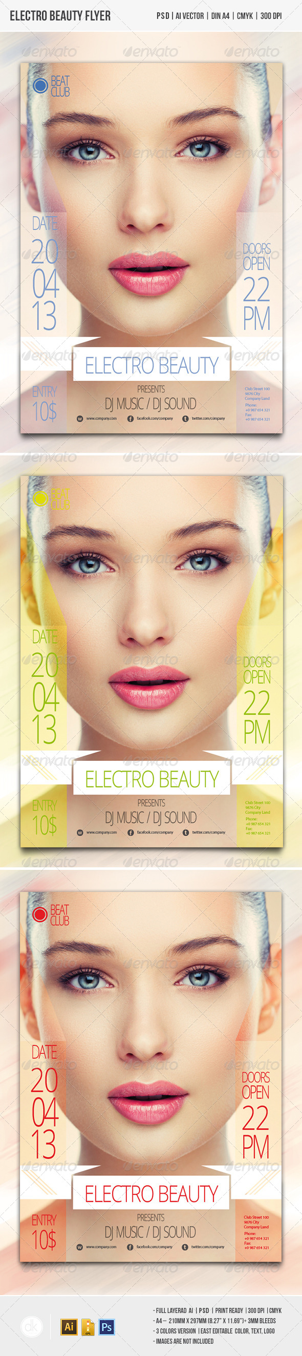Electro Beauty Flyer - Clubs & Parties Events