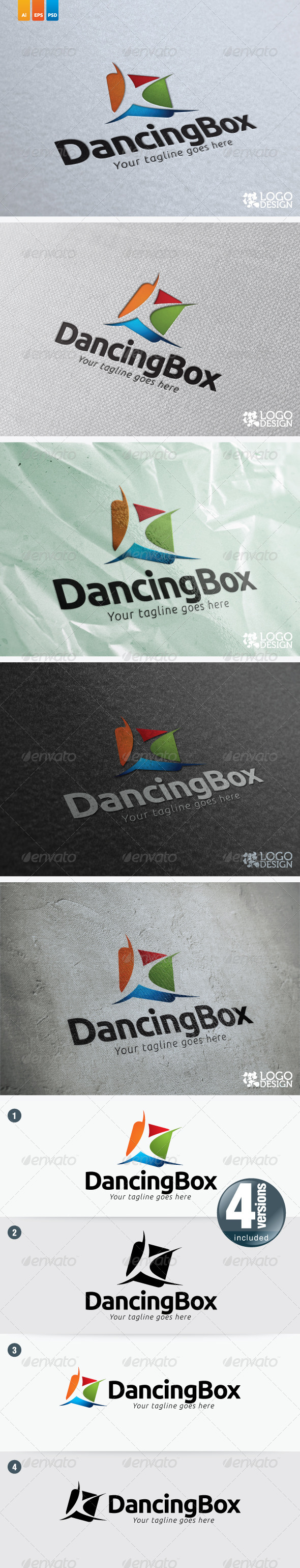 Dancing Box - Humans Logo Templates