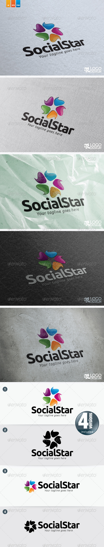 Social Star - Symbols Logo Templates