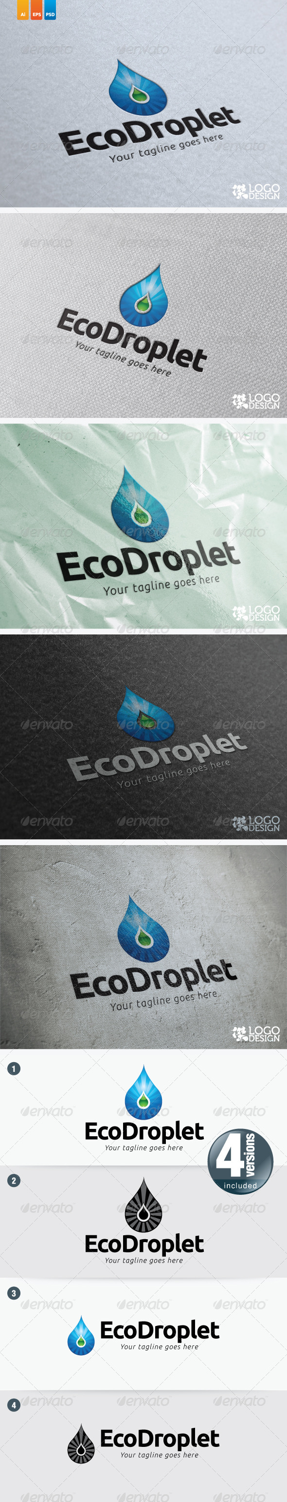Eco Droplet - Nature Logo Templates