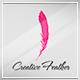 Creative Feather Logo Template