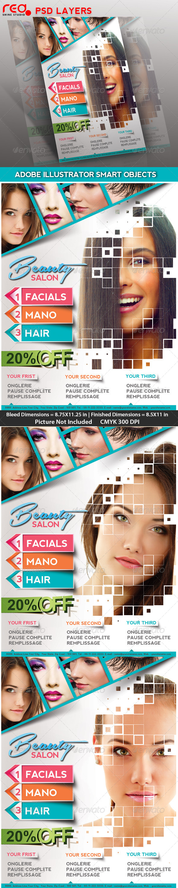Beauty Salon Poster/flyer & Magzine Cover - Commerce Flyers