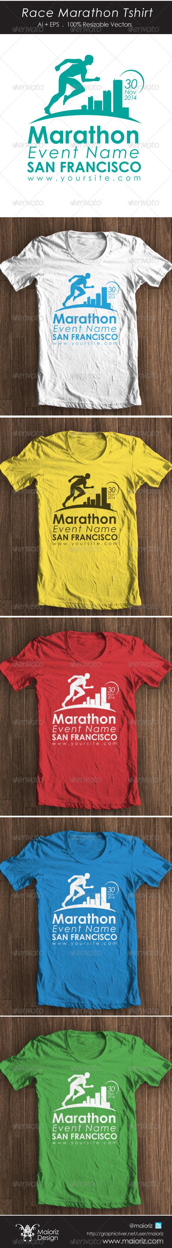 Race Marathon Tshirt - Sports & Teams T-Shirts