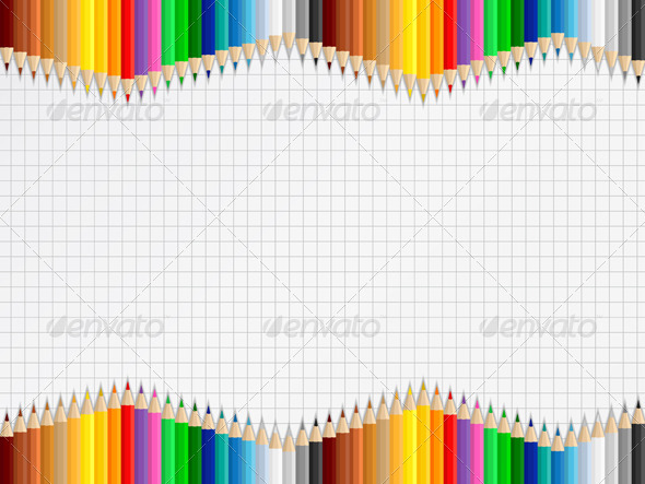 Background with Colored Pencils - Backgrounds Decorative
