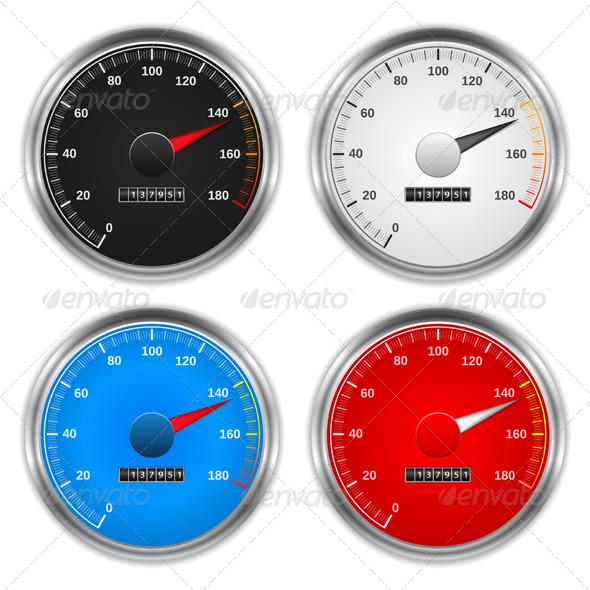 Speedometers - Objects Vectors