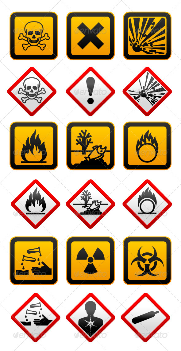 New And Old Hazard Symbols By Ecelop Graphicriver