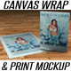 Canvas Wrap & Print Portrait Mockup - GraphicRiver Item for Sale