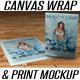 Canvas Wrap & Print Portrait Mockup - GraphicRiver Item for Sale