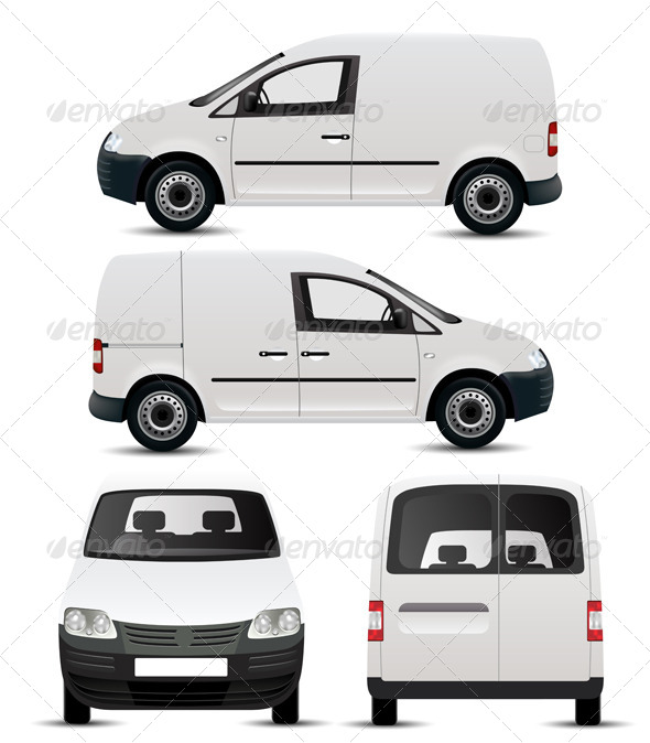 White Commercial Vehicle Mockup   Services Commercial / Shopping
