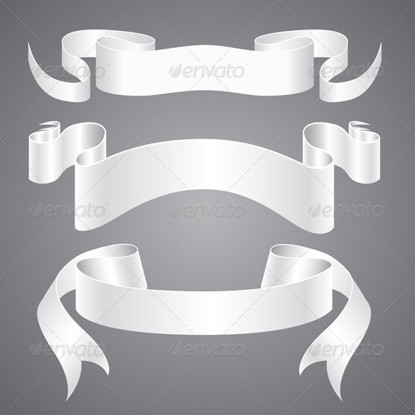 White Paper Ribbons - Backgrounds Decorative