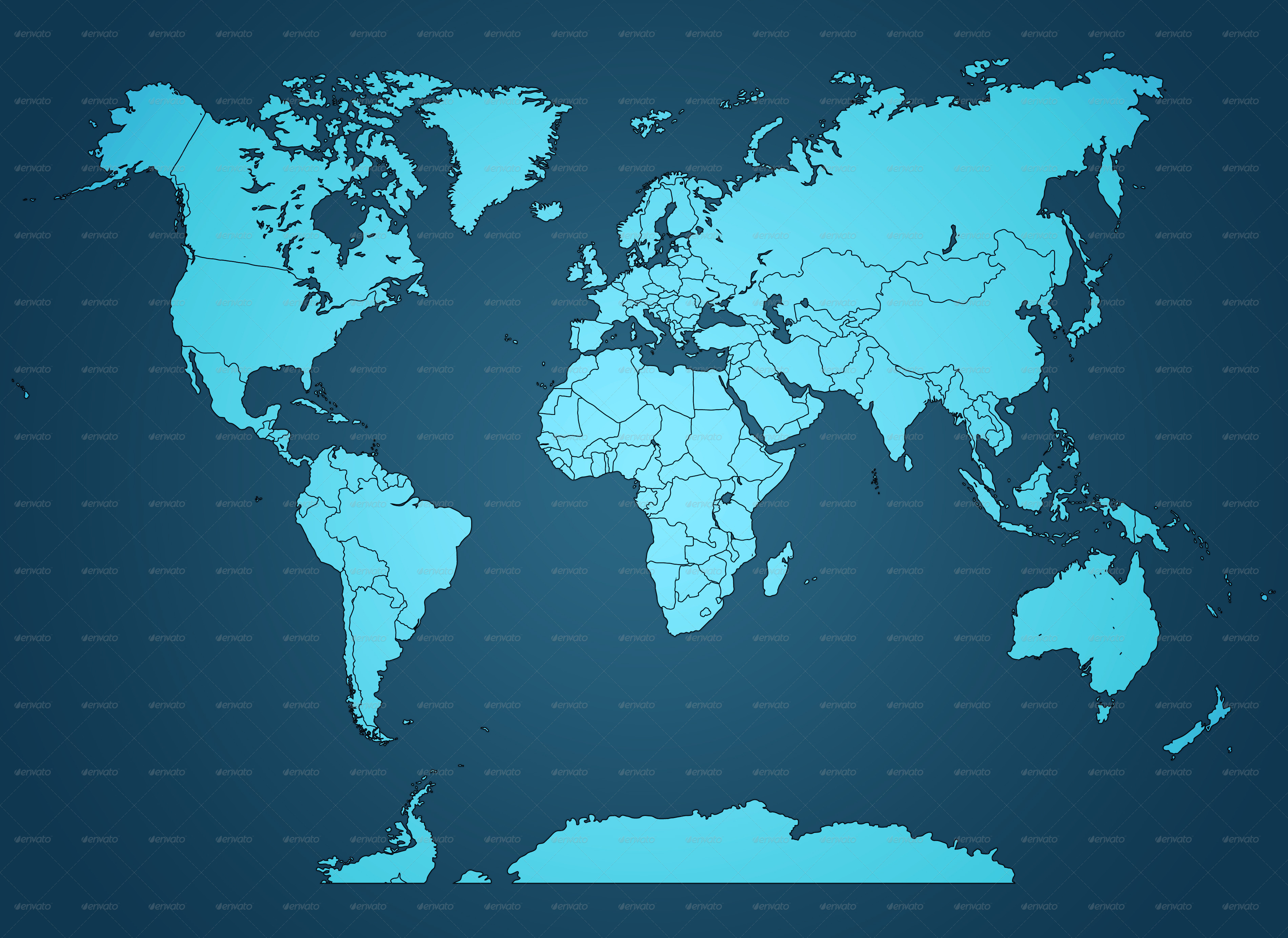 World Map Collection By Koios Graphicriver