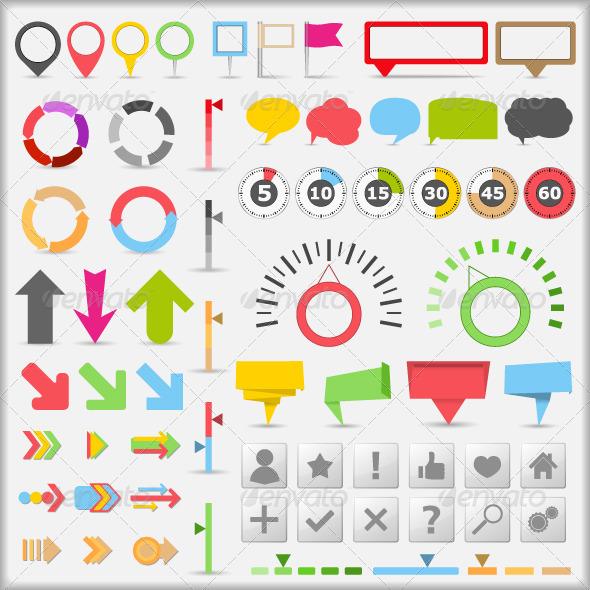 Infographic Elements - Web Elements Vectors