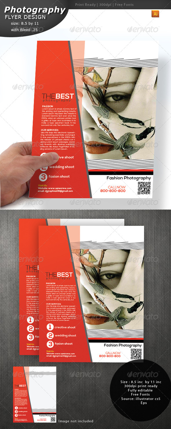 Photography Flyer - Flyers Print Templates