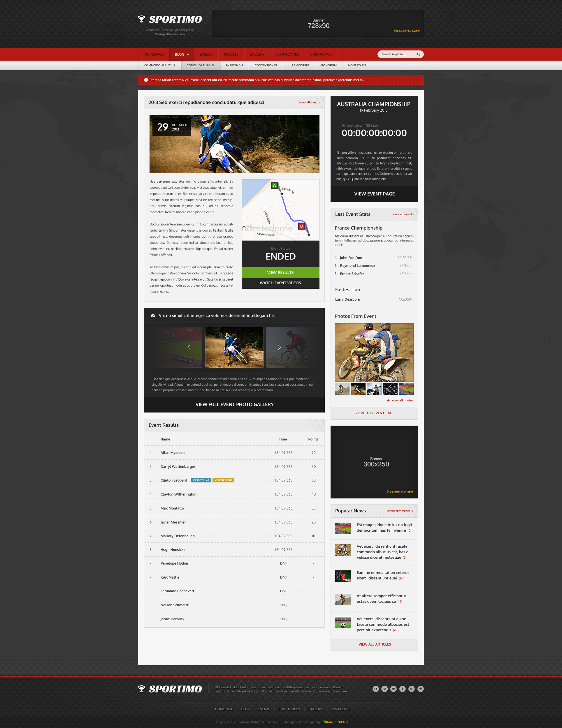 Sportimo - Sport & Events Magazine HTML Template by orange-themes ...