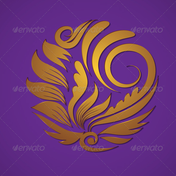 Circle Gold Ornament - Decorative Symbols Decorative