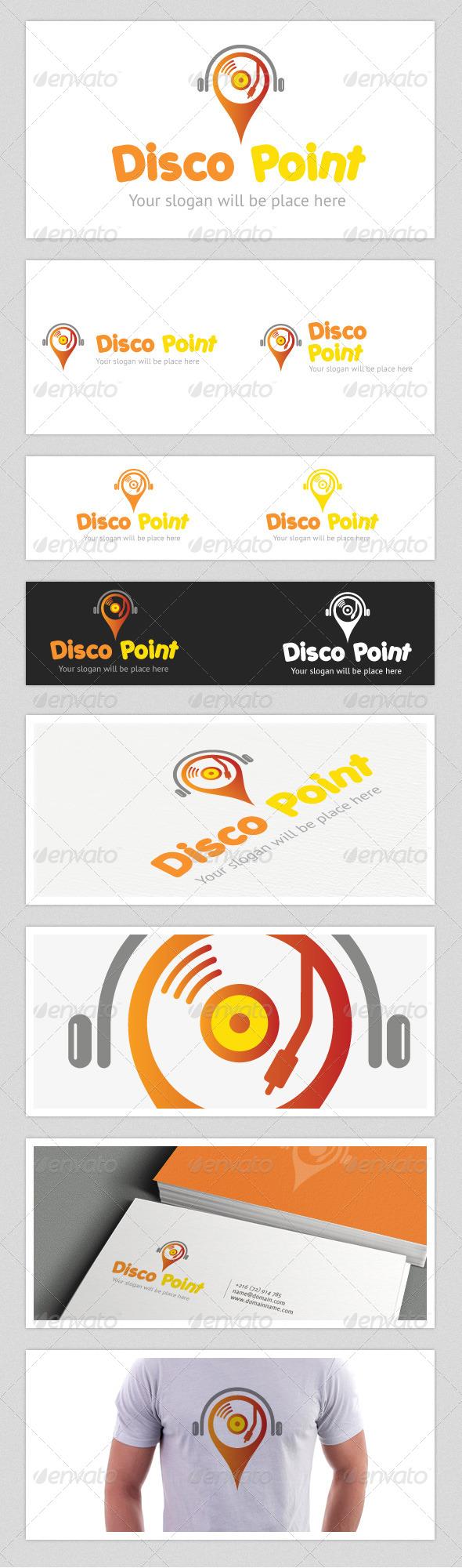 Disco Point Logo - Vector Abstract
