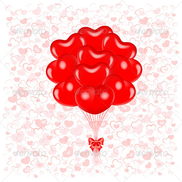 Red Balloons - Valentines Seasons/Holidays