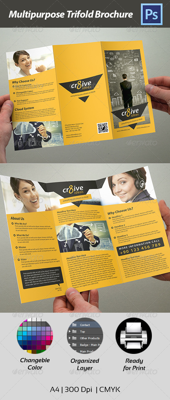 Trifold Brochure - Multipurpose - Corporate Brochures