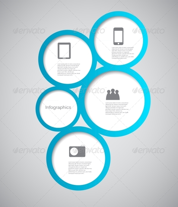 Infographic Template Vector Illustration - Web Technology