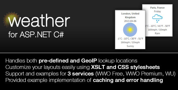 Weather Module for ASP.NET - CodeCanyon Item for Sale