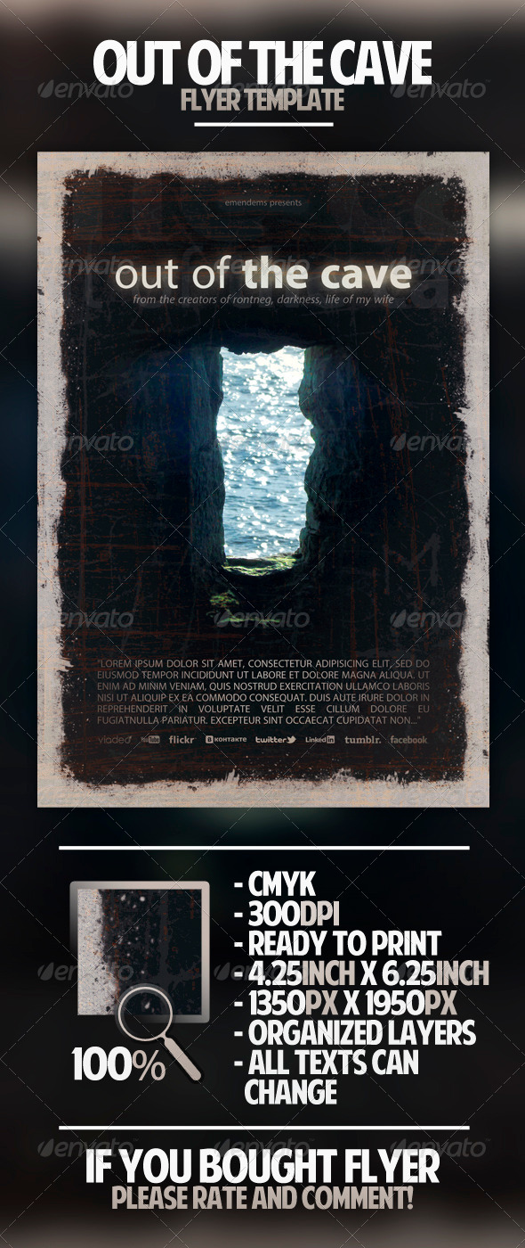 Out of The Cave Flyer Template - Miscellaneous Events