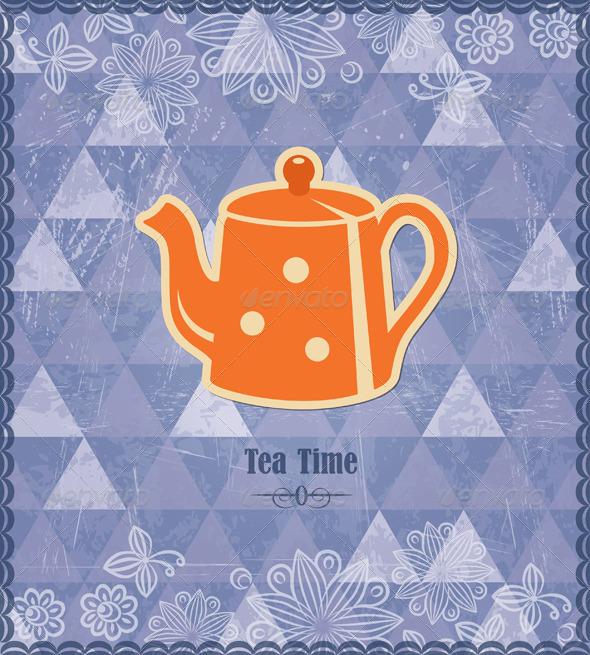 Tea Time Vintage Pattern - Retro Technology