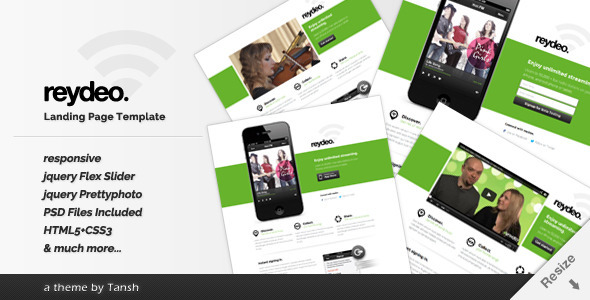 Reydeo Responsive HTML Landing Page Template - Software Technology
