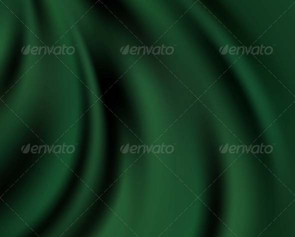 Green Silk Background - Fabric Textures