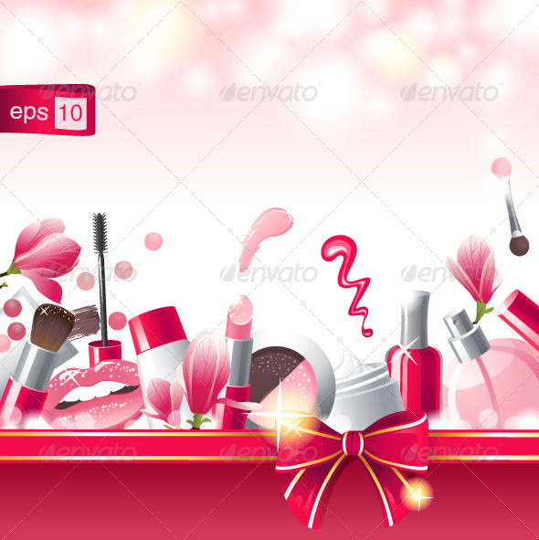 Make-Up Background - Backgrounds Decorative
