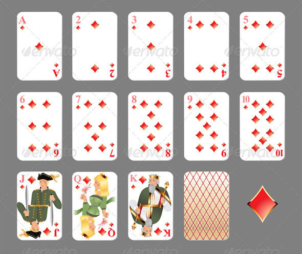 Playing Cards - Diamond Suit - Sports/Activity Conceptual
