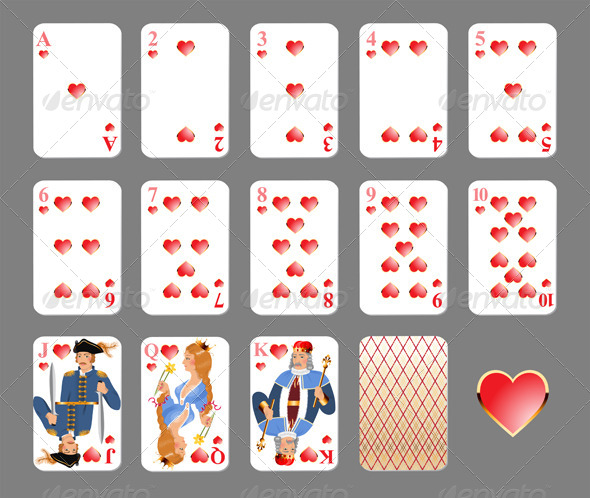 Playing Cards - Heart Suit - Sports/Activity Conceptual