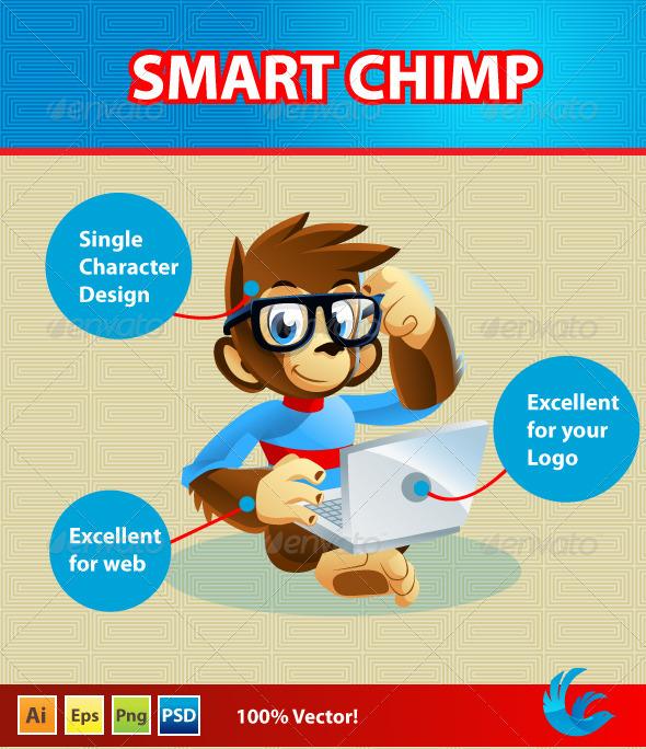 Chimp Mascote/Character - Animals Characters