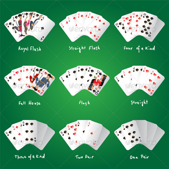 Poker Combinations - Sports/Activity Conceptual