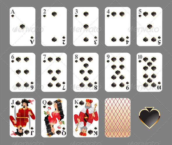 Playing Cards - Spade Suit - Sports/Activity Conceptual