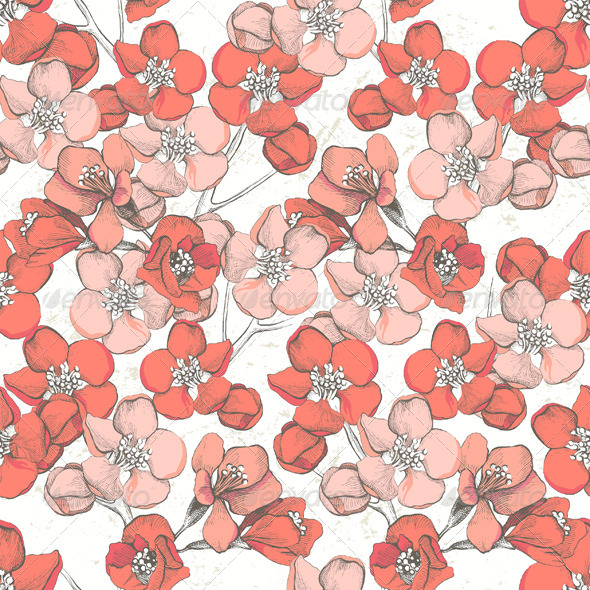 Spring Floral Seamless - Patterns Decorative