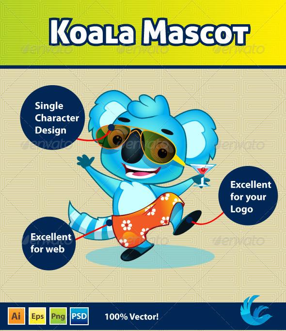 Koala Mascot - Animals Characters