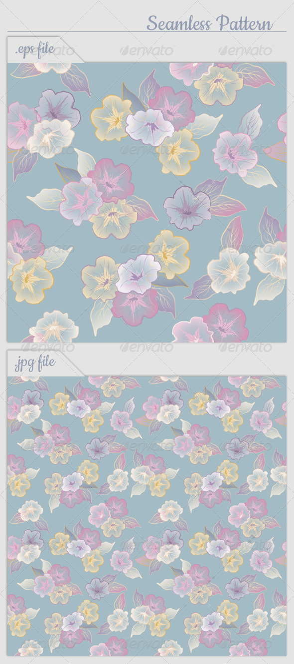 Vector Floral Seamless Pattern Flowers - Patterns Decorative