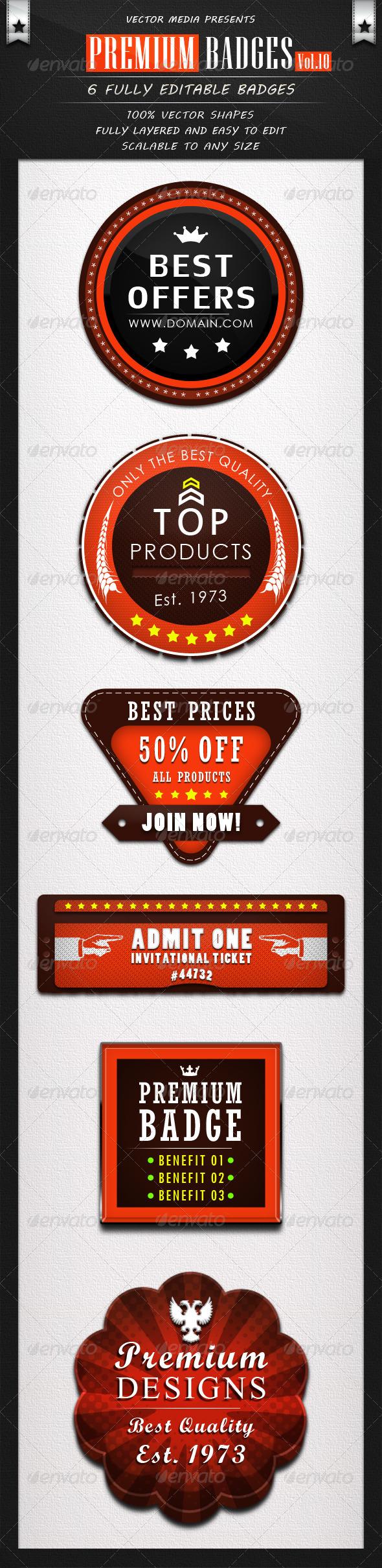 Premium Badges - Vol.10 - Badges & Stickers Web Elements