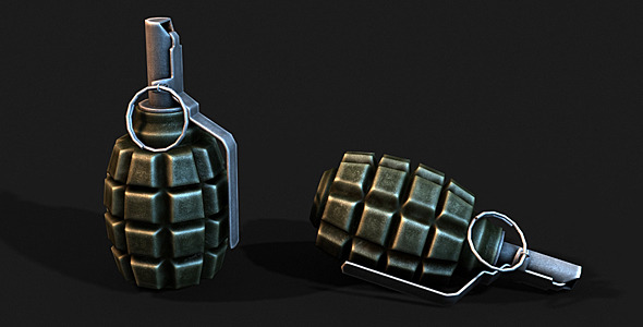Low Poly F1 Grenade - 3DOcean Item for Sale