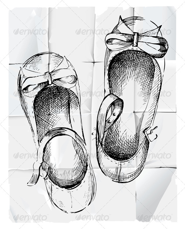 Girl Shoes - Objects Vectors