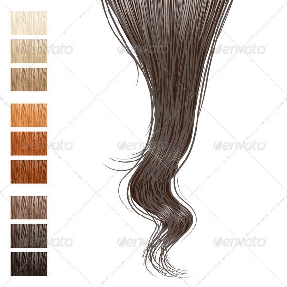 Hair Lock - Vectors