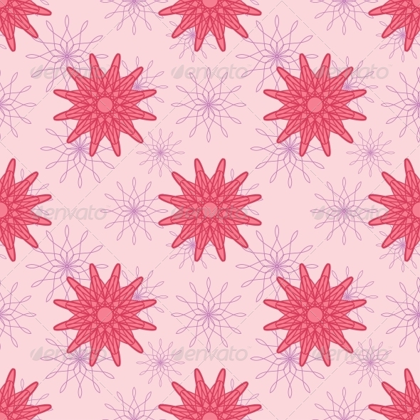 Pink Flowers Seamless Pattern - Patterns Decorative
