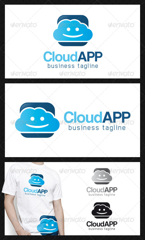 Happy Cloud App Logo Template - Objects Logo Templates