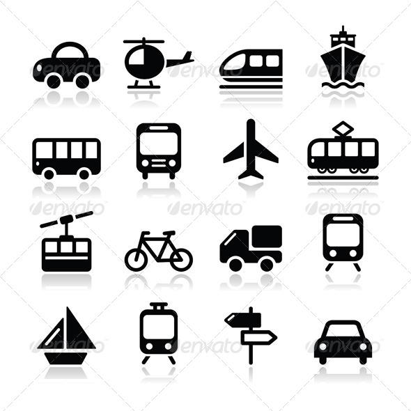 Travel Vector Icon Set - Travel Conceptual