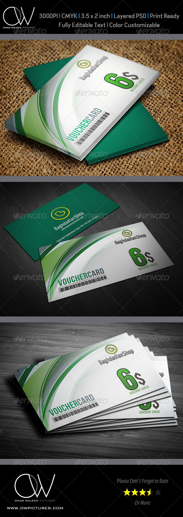 Gift  Voucher Card Vol.4 - Cards & Invites Print Templates