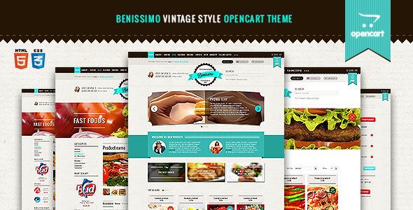 Benissimo — Vintage Style OpenCart Theme