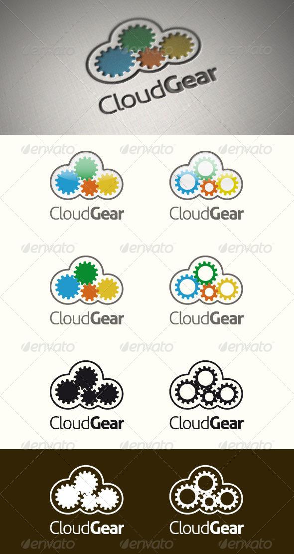 Cloud Gear Logo Template - Symbols Logo Templates