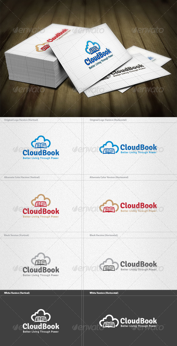 Cloud Book Logo - Objects Logo Templates