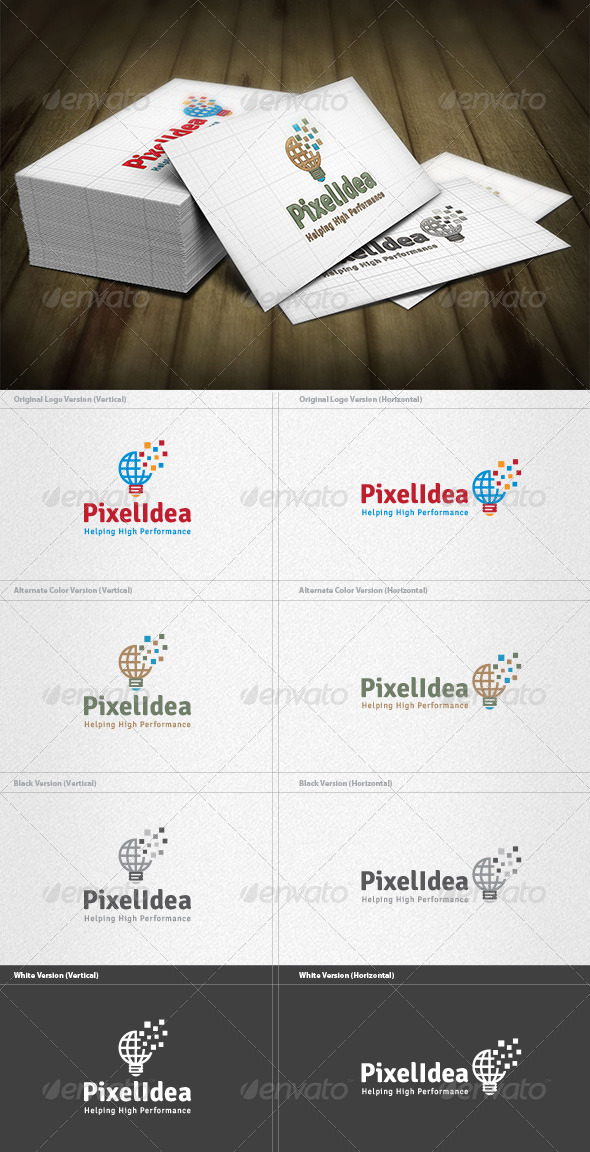 Pixel Idea Logo - Symbols Logo Templates