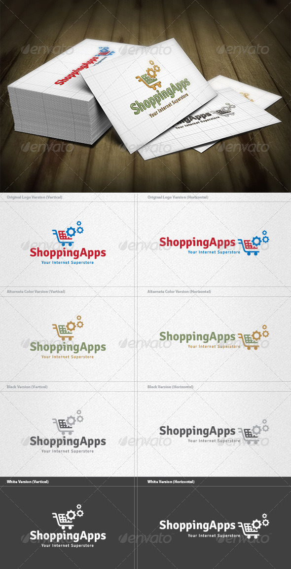 Shopping Apps Logo - Objects Logo Templates